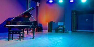 Performance room with piano