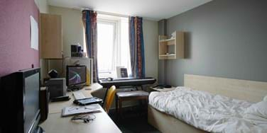 Bedroom in student halls