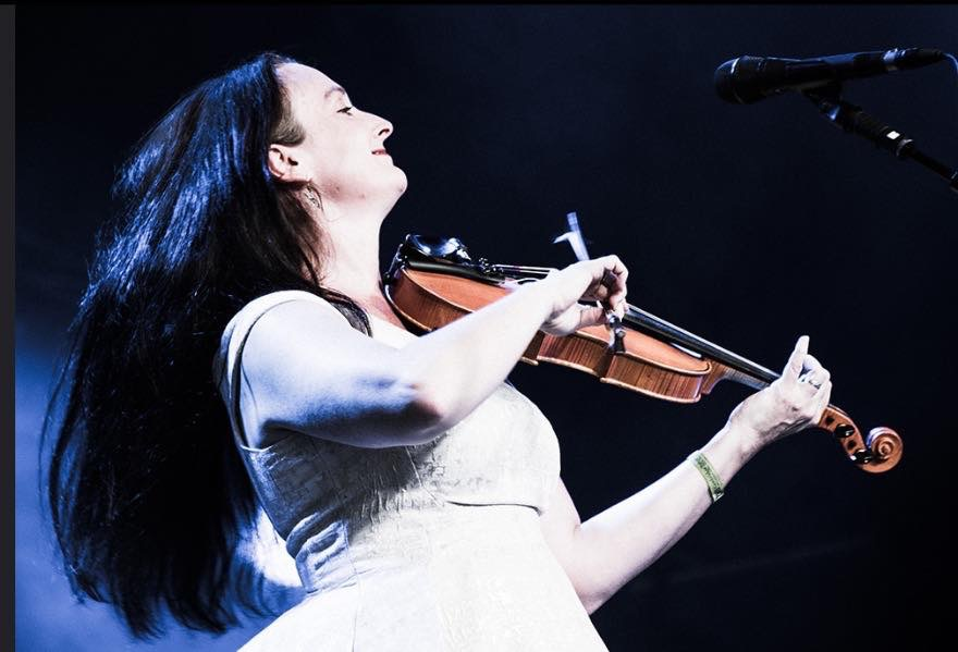 Nancy Kerr playing violin